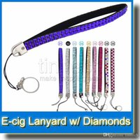 Wholesale Ego Battery Bling - Bling Bling Necklace String Neck Chain EGO Lanyard with diamond Hot selling Necklace String Neck Chain Lanyard for all ego batteries