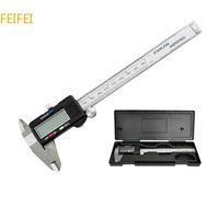 "Wholesale Digital Mm Gauges - Measuring Tool Promotion Digital Micrometer 2015 New 6"" 150 Mm Digital Caliper Vernier Gauge Micrometer Paquimetro Electronic T0009"