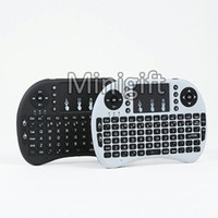 Wholesale Mini Wireless Bluetooth Qwerty Keyboard - Rii i8 Remote Air Mouse Mini QWERTY Keyboard Combo Wireless 2.4G Touchpad For MXQ PRO M8S T95 Bluetooth Android 6.0 S912 S905 S905X TV BOX