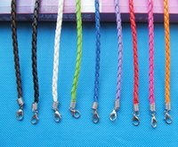 kunstleder schmuck großhandel-Faux Braid Leder Armband Schnur, 1,8 Zoll Extender Kette 180mmX3mm (10 Farben) DIY Zubehör Schmuck machen