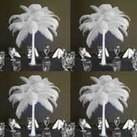 Wholesale ostrich plume feathers sale for sale - Group buy White Ostrich Feathe Hot Sale Table Decoration Wedding Centerpiece Ostrich Feather Ostrich Plume Wedding Centerpiece Home Table Centerpiece