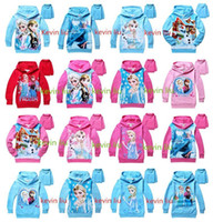 Wholesale Character Winter Jackets For Kids - 6 pcs lot new Children Autumn Winter Outwear Anna & Elsa Jacket Children Hoodies Kids Jackets For Boys Girls Coat A-0003