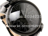 Wholesale Hand Water Without - Gaga watches the trend of fashion black digital big dial unisex fashion Gaga mechanical watches