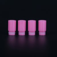 Wholesale Ego Cigaret - Newest Rose Pink Resin Drip Tips Plastic Wide Bore Drip Tip for 510 EGO Atomizer Mouthpiece RDA Kanger Protank SubTank Electronic Cigaret