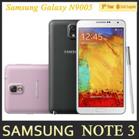 Wholesale Andriod Notes - Original Samsung Galaxy Note 3 N9000 N9005 Unlocked Mobile Phone Quad Core 3GB RAM 5.7 Inches 13MP GPS Refurbished Andriod Phone