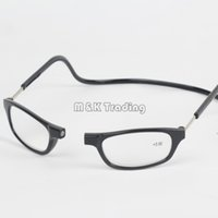 ingrosso occhiali da lettura appesi-Clic Occhiali da lettura in resina Slim Magnet Occhiali da lettura Eyewear Far-sighted 8 Colours Hang On Neck For Old People