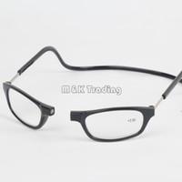 lesebrille alte leute großhandel-Clic Resin Lesebrille Slim Magnet Lesebrille Brillen Weitblick 8 Farben hängen am Hals für alte Menschen