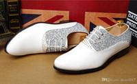 Wholesale unique men white wedding shoes resale online - 2017 New hot sale fashion Men s wedding shoes Mens pointed design leather shoes Unique men casual shoes