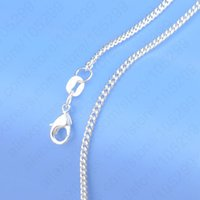 "Wholesale Beaded Discount Jewelry - Hot Sale 1PC free shipping Pure 925 Sterling Silver Chain Necklace With Big Discount, 16""-30""Popular Flat Curb Chains Jewelry A3"