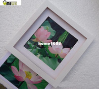 organic glass photo frame - Umiwe Thicken Square Plate Hang Wall Photo Solid Wood Frame With Organic Glass White Inch