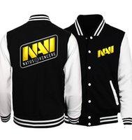 Wholesale long thin sleeveless vest - New Arrival Dota 2 Series Men Jacket 2017 Spring Autumn Dota 2 Team Secret Baseball Jackets Men Hoodies Plus Size Coat For Men