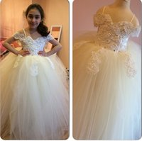 Wholesale Sweetheart Tulle Rhinestones - 2015 F118 Flower Girl Dresses Flower Girl Wedding Dresses Baby Dresses Kids Pageant Dresses
