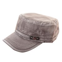 Wholesale Cadet Hats Wholesalers - Fashion Summer Adjustable Classic Army Plain Vintage Hat Cadet Military Cap Hot Selling