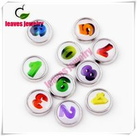 Wholesale Charms Locket Sell - Hot selling round shape beautiful mix color digit number floating charms for memory living glass floating locket