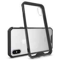 Wholesale bumper case cellphone for sale - For Galaxy S9 Plus iPhone X Xs Max Xr Plus CellPhone Case Clear Hard Bumper Protective Cover for iPhone Plus