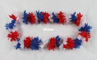 Wholesale hawaii lei - Fashion Hot Party Supplies Silk Hawaiian Flower Lei Garland Hawaii Wreath Cheerleading Products Hawaii Necklace