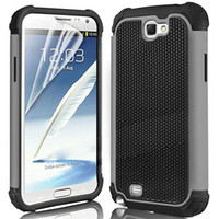 Impact-gros caoutchouc antichoc couverture Hard Case pour Samsung Galaxy Note 2 N7100 Note II Armure Heavy Duty