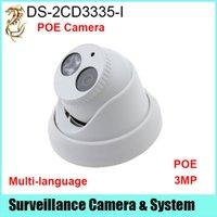 ip 3mp großhandel-Neueste Firmware V5.3.3 und HEVC / H.265 Sicherheit IP Kamera DS-2CD3335-I 3MP HD POE ersetzen DS-2CD3332-I