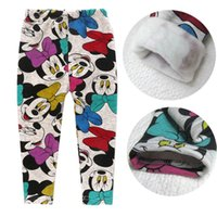 Wholesale Thick Pants Winter Toddler - Retail 2015 autumn winter Minnie mouse girls leggings thick warm kids pants children clothes baby girl trousers toddler clothing 201508HX