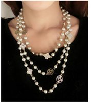 Wholesale Crystal Agate Pendant - 2015 Natural Smooth Freshwater Pearl Necklace For Women Agate Pendant Necklace Genuine Natural Pearl Jewelry 666
