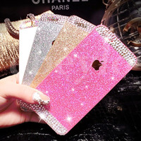 Wholesale Diamond Iphone 4s Cases - For Iphone 6 Plus 5s 4s Glitter Diamond Hard Shell Phone Shell Mobile Phone Sets Protective Case Cell Phone Case Creative Case Wholesale