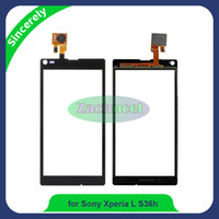 Wholesale Touchscreen Digitizer Parts - For Sony Xperia L S36h C2104 C2105 5.0 inch Touchscreen Panel Digitizer Front Glass Sensor Panels Touch Screen Repair Cellphone Parts