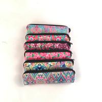 Wholesale Travel Jewel - Wholesale Blanks Neoprene Pencil Case Rose Coral Crown Jewel Printing Women Cosmetic Bag Travel Cosmetic Bag Storage Cosmetic Cases