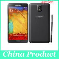примечание 13 оптовых-Оригинальный мобильный телефон Samsung Galaxy Note 3 Quad Core 3G RAM 16 ГБ ROM 13-мегапиксельная камера 5,7