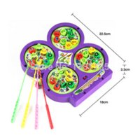 Wholesale Magnetic Rotating Fishing Game - High Quality Electric Rotating Magnetic Magnet Fish Fishing Kid Children Educational Toy Game Free Shipping toy android