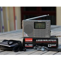 Wholesale Tecsun Free Shipping - Tecsun PL-380 PL380 radio Digital PLL Portable Radio FM Stereo LW SW MW DSP Receiver Nice Free Shipping