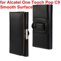alcatel deri çanta toptan satış-Yeni Bel Kılıf Kılıf PU Deri Kemer Klip Kılıfı Kapak Kılıf Için Alcatel One Touch POP C9 Çift 7047 7047D Cep Telefonu Çantası
