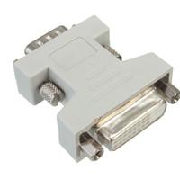 Wholesale vga cable sale - New Hot Sale DVI-D 24+1 Dual Link Female to VGA Male Adapter 15 Pin Socket Converter M-F convertor HDTV TV monitors projectors order<$18no t