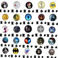 Wholesale Mixed Logo Tapers - Mix 10 Different Logo Ear Taper Plug 4mm-16mm Gauges Expander 160pcs lot Stretchers Body Jewelry Ear Plug