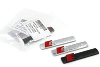 Wholesale Accessories For Automobiles - 10pcs Automobiles for audi 3d metal car sticker sline Badge Chrome on car covers, a3 a4 a5 a6 q3 q5 q7 audi accessories sline car styling