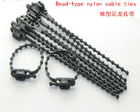 Wholesale Cable Tie Packaging - Retreat-style tie ties live buckle ties bead-type nylon cable ties 4 * 160mm   10 package