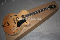 Wholesale G Jazz Guitar - Free shipping New Arrival G L-5 L5 Jazz guitar F -Semi Hollow Natural color Electric guitar in stock