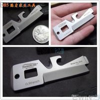 Wholesale Card Size Knife - 5 In 1 Survival Pocket Tool Credit Card Size Stainless Steel Survival Multifunction New Arrive 600pcs