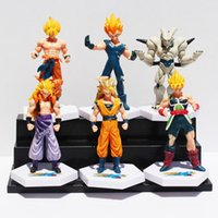 anime figur drachen ball gesetzt großhandel-Anime Dragon Ball Z Super Saiyajin Goku Vegeta Gotenks Buu PVC Action Figure Spielzeug 6 Teile / satz 12 Cm Ca.