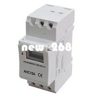 Wholesale Microcomputer Timer - DHL or EMS 6pcs Timer switch Digital LCD Power Weekly Programmable Timer Microcomputer Electronic AC 220V 16A Time Relay Switch