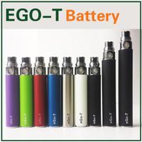 Wholesale Ego T Rechargeable Cigarette - Ego-T battery Ecig Rechargeable ego t batteries Electronic Cigarette 650mah 900mah 1100mah Battery 510 Thread Match ce4 mt3 gs h2 atomizers