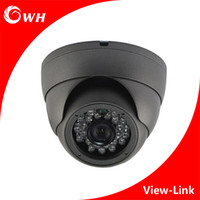 Wholesale Dome Color Cctv - CWH-A4008H AHD CCTV Dome Camera with metal Housing and black color and 1MP 1.3MP 2MP Resolution CCTV 1080P Home Security Surveillance Camera