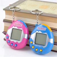llavero de juguete para mascotas al por mayor-Hot Retro Game Toys Pets In One Funny Toys Vintage Virtual Cyber Toy Tamagotchi Digital Pet Child Game Kids con llavero nostálgico