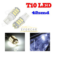 ampoule à xénon led blanche 194 achat en gros de-T10 / 921/194 42 SMD 12V LED Xenon 6000K Blanc LED feux de voiture ampoule livraison gratuite