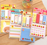Wholesale cute Sticker Post It Bookmark Marker Memo Flags Index Pad Tab Sticky Notes S714M