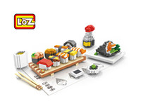 Wholesale Educational Chopstick - Sushi soy sauce chopstick Food Toys LOZ Educational Minifigures Block 3D Diamond Building Blocks ABS plastic Bricks Toy With Box