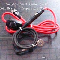Wholesale enail temperature controller for sale - Group buy Portable Mini Enail Analog Dnail Temperature Controller flat Heater Pin XLR Connectors v w Fit Quartz Nail mm mm Inner Diameter