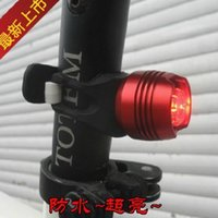 Wholesale Monocular Head - High quality Bright ruby bicycle taillight aluminum CNC bicycle helmet lights warning lights monocular 50pcs 1119#19