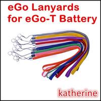 ego zincirleri toptan satış-EGo Boyunluklar Renkli Halka Boyun Zinciri Dize Kolye için E Çiğ için EGo-T eGo Q eGo W eGo-c eGo-F E Sigara Pil Çeşitli Renkler Instock