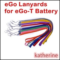 bunte string lanyards großhandel-eGo Lanyards Bunte Ring Hals Kette String Halskette für E Cig für eGo-T eGo Q eGo W eGo-c eGo-F E Zigaretten Akku Verschiedene Farben Instock