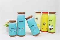 Wholesale 6 Colors ml cute lion duck deer ect Cartoon Animal Stainless Steel Vacuum Cup Thermal Cup Heat Insulation Vacuum Flasks Retail